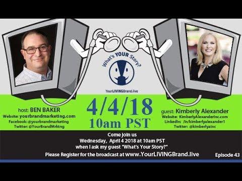 Kimberly Alexander on the April 4 2018 YourLIVINGBrand.live Show