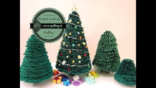 Quilling christmas tree No. 1 (Tutorial)