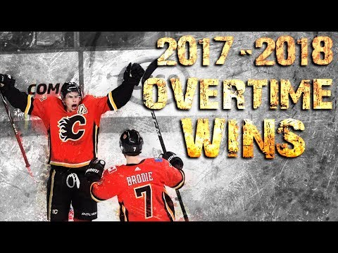 Calgary Flames Overtime Wins - 2017/2018 Season