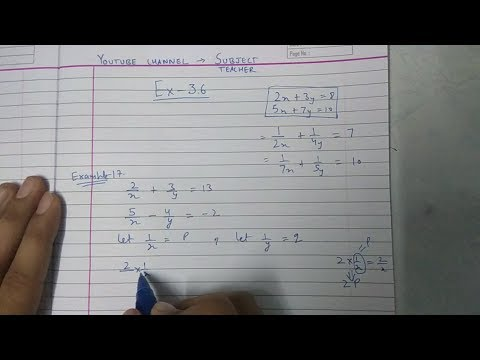 Chapter 3 exercise 3.6 Q1 (all parts) pair of linear equations maths class 10