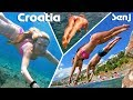 A beautiful sea, underwater swimming in Adriatic sea, Croatia