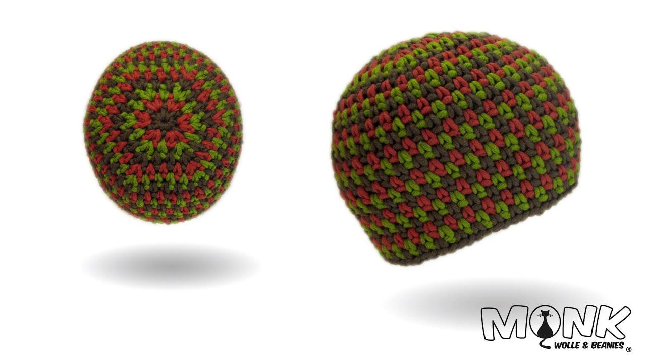 Mütze Häkeln Moss Stitch Beanie No 2 Tweed Style Youtube