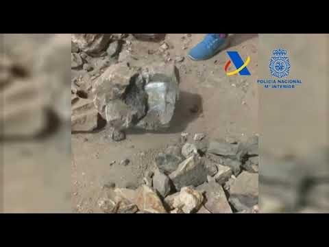 Intervenida casi una tonelada de cocaína transportada oculta en el interior de falsas piedras