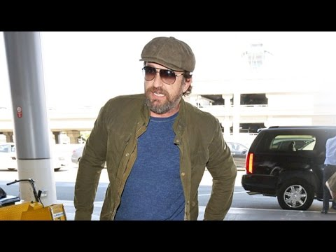 A Bearded Gerard Butler Almost Misses Flight After Hot Date Night With Morgan Brown