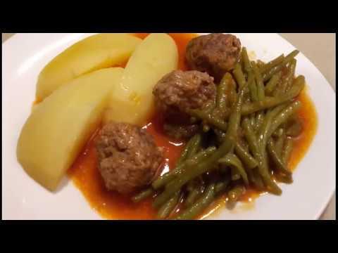 ✔️-poêlée-de-haricots-verts-avec-des-boulettes-de-viande-hachée