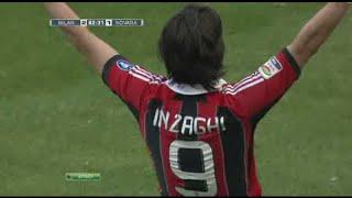 Filippo Inzaghi vs Novara (Last Match for AC Milan 2012)