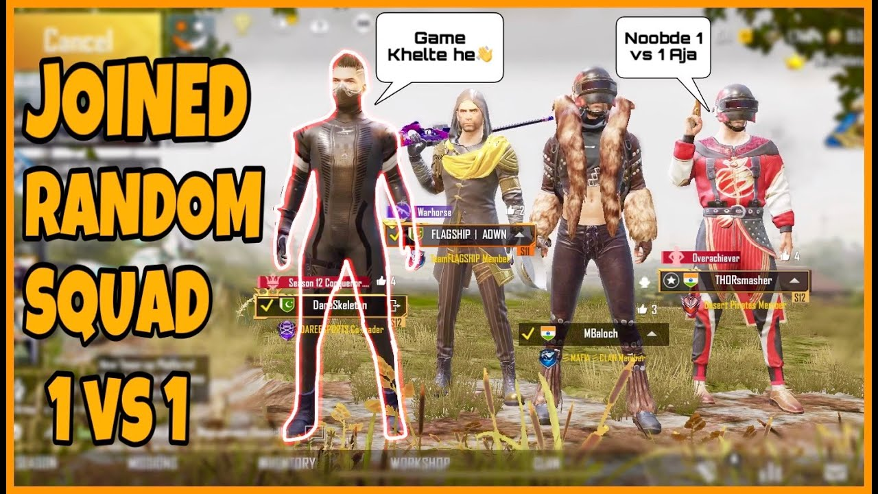 Joined Random Squad 👍 And He Challenged Me For 1 VS 1 😡 | Pubg Mobile | Skeleton Gaming