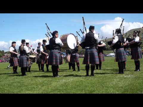 Lochryan Pipe Band - 7 June 2015, Girvan, Scotland