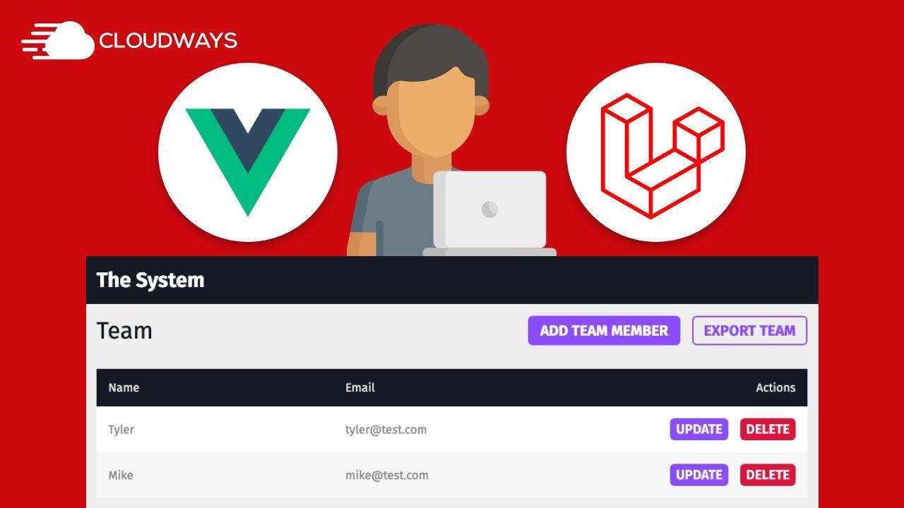 Build a User Management System in VueJS & Laravel