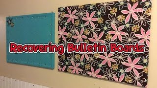 Diy - Recovering Bulletin Boards