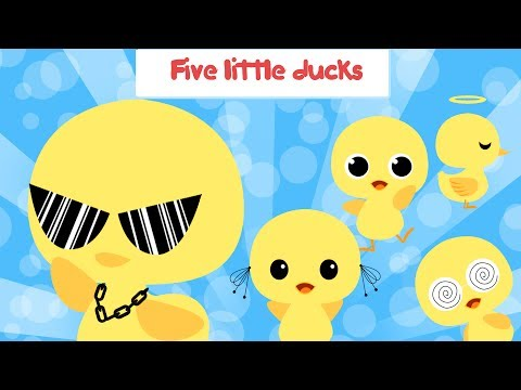 Five little ducks went out one day with lyrics   Baby ducks   Animal song   Kid songs   Boo and Lily