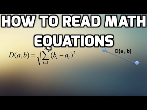 How to Read Math Equations - YouTube