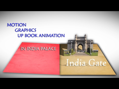 After Effect   Motion Graphics   Book animation of Indian tourist places