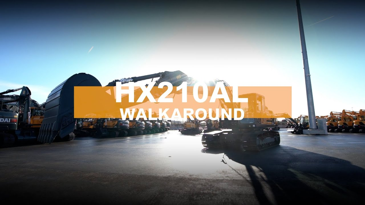 Walkaround of the HX210AL Crawler Excavator | Hyundai Construction Equipment