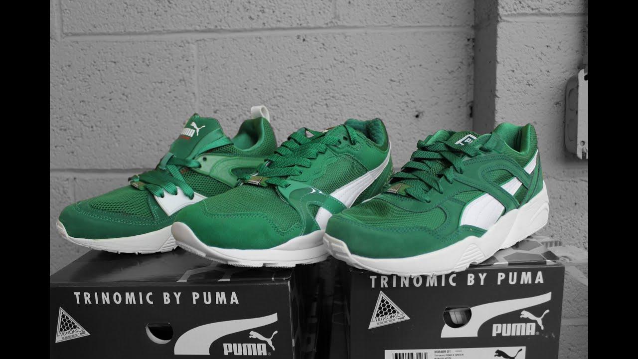 puma trinomic blaze x green