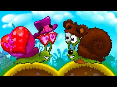 УЛИТКА БОБ 3 - Мишка и Купидон #15 Snail Bob с Кидом. Мультик игра на пурумчата