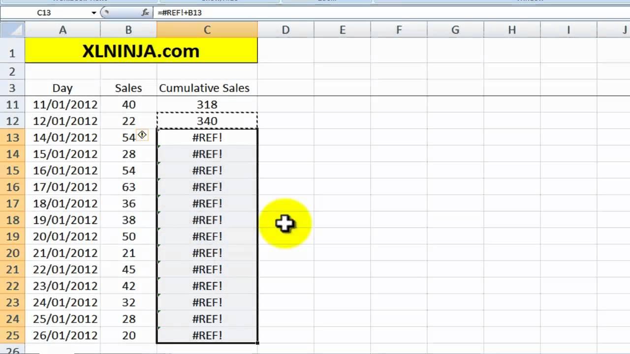 Excel cumulative sum formula youtube excel cumulative sum formula ccuart Images