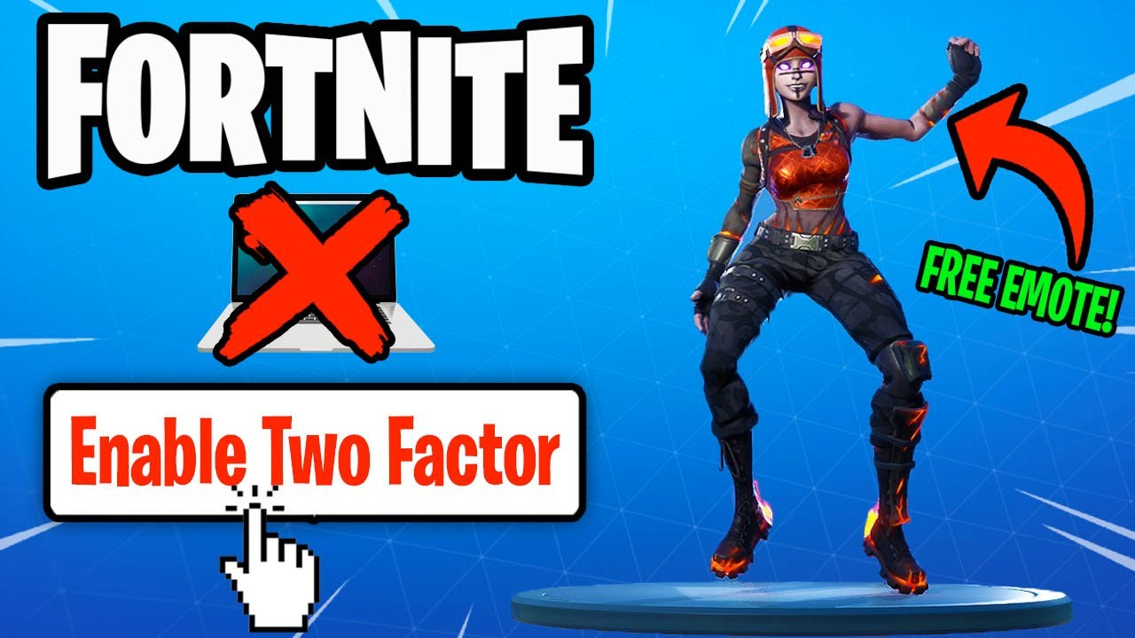 How to Enable 2FA on Fortnite! (FREE DANCE & NO COMPUTER ...