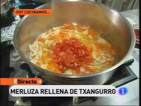 Receta de Merluza rellena de txangurro (Fuente: España Directo)