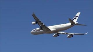 低空離陸・フインランド航空 A340 OH LQE Rwy34L Takeoff 成田空港さくらの山 nrt hhh