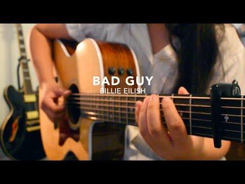 bad guy – Billie Eilish – Fingerstyle Guitar Cover (+FREE