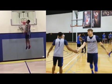 Mavericks Rookie Luka Doncic TRAINING With Dennis Smith Jr