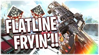 FRYING with the FLATLINE!!! (Apex Legends PS4)