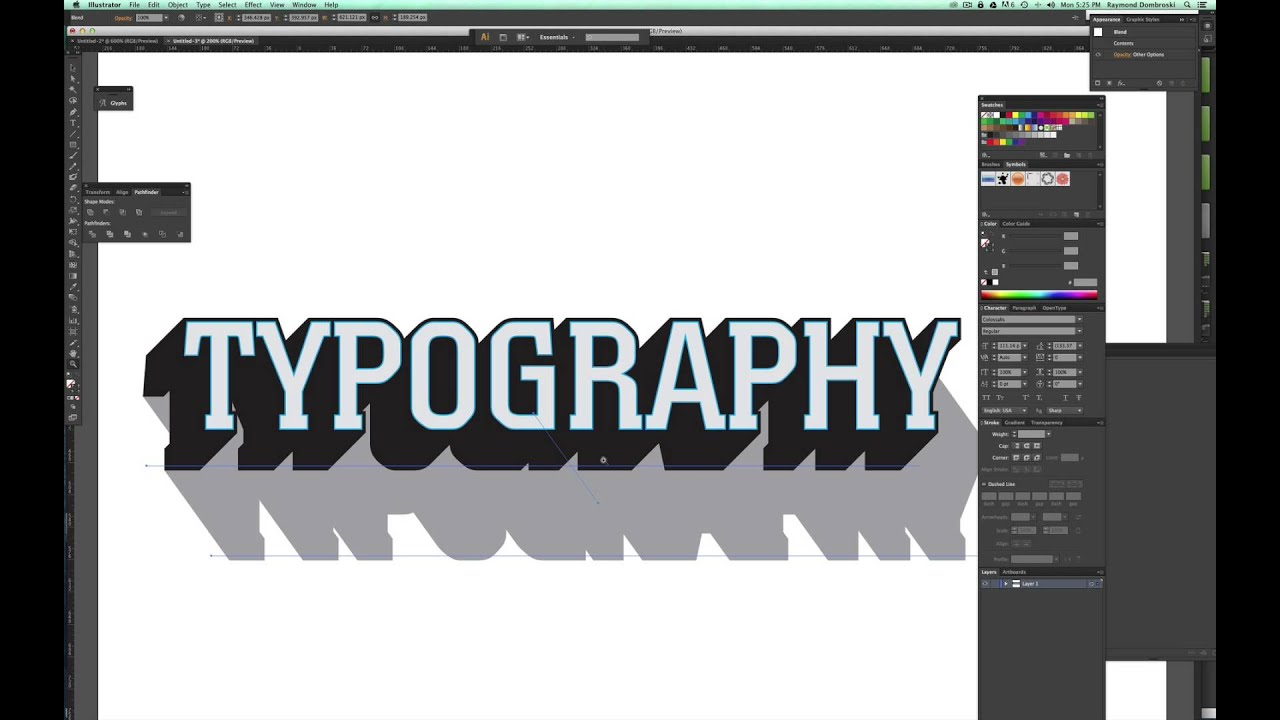 Tutorial How To Make 3d Typography Templates In Adobe
