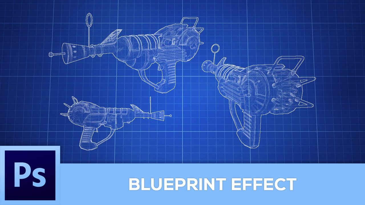 how to create a blueprint effect photoshop tutorial youtube - How Do You Make Blueprints