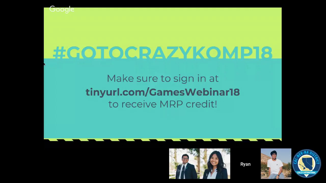 CNH Circle K: Crazy Kompetition for Infants Games Webinar