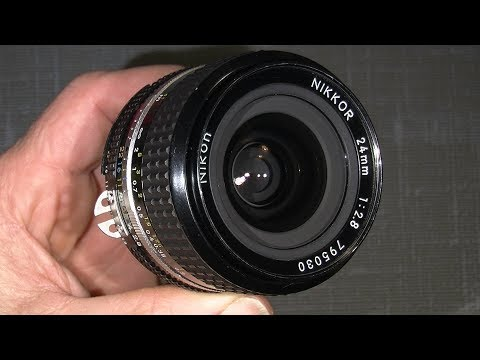 Re-grease the focus system in AI-s Nikkor 24mm 1:2.8____front and back helicoid's