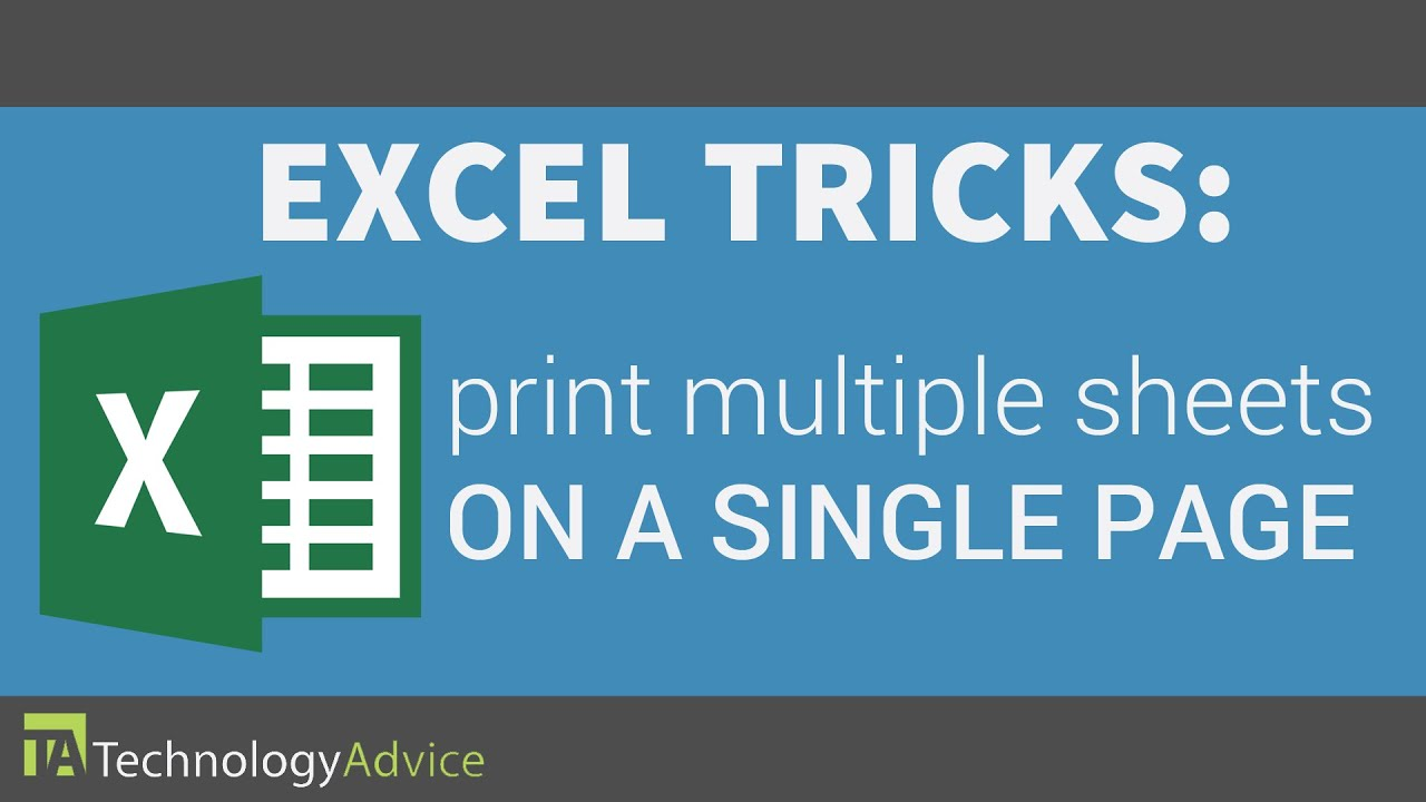 Excel Tricks - Print Multiple Sheets on a Single Page - YouTube