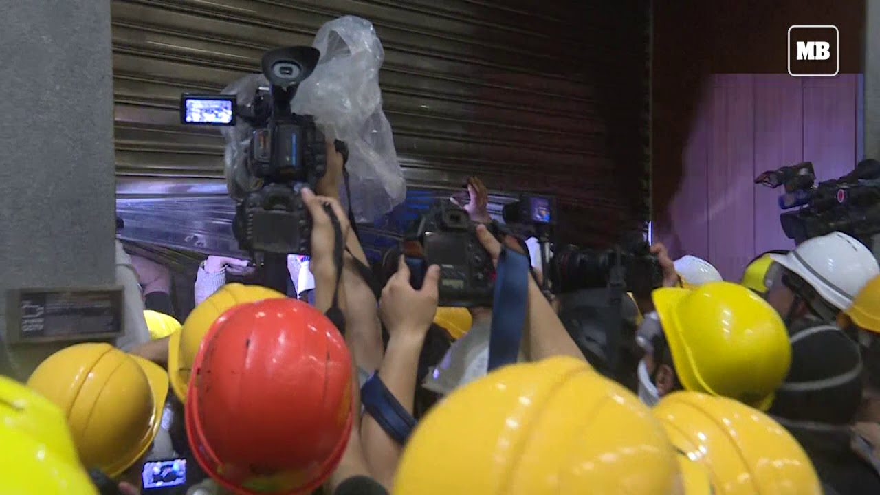 Hong Kong protesters seize parliament chamber