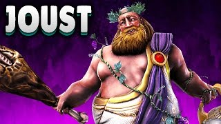 The God Of Wine! (Bacchus Tank Build) - Bacchus Joust Gameplay SMITE