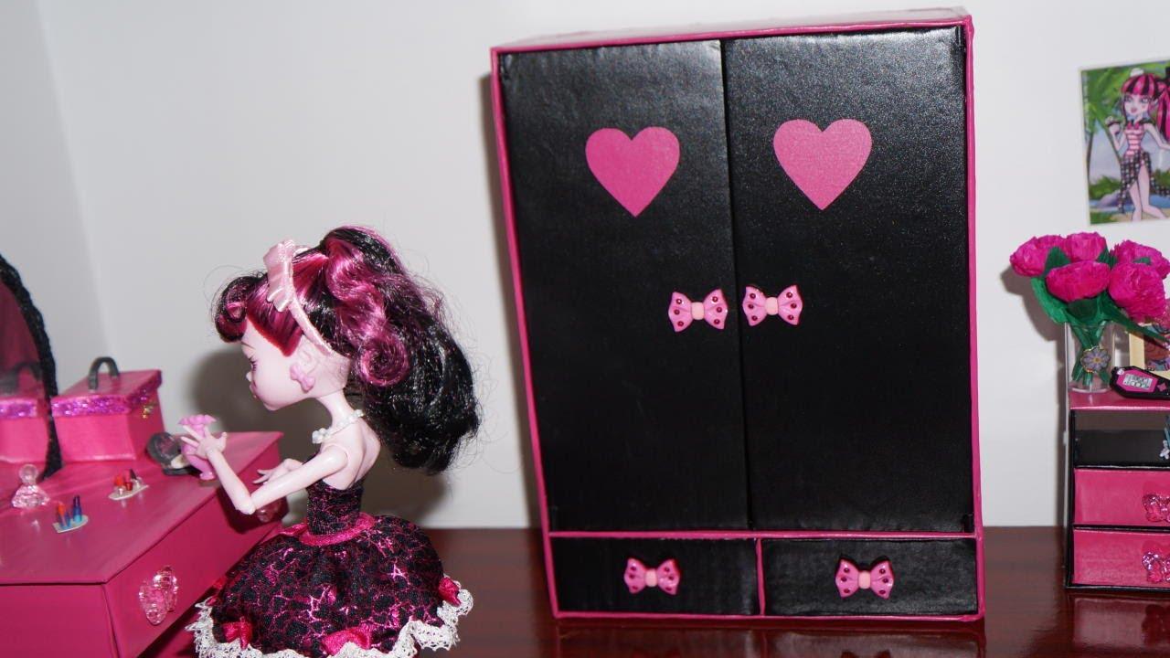 Excepcional Como fazer guarda-roupa #2 para boneca Monster High, Barbie e etc  ZB43