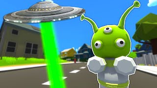 We Found an Alİen UFO While Delivering Pizza! - Wobbly Life Ragdoll Gameplay Multiplayer