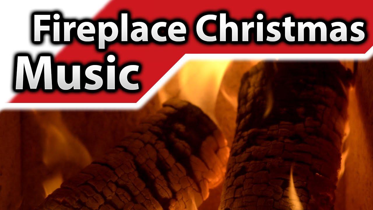 4K ▻ Fireplace Christmas Music ♫