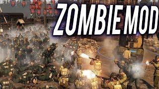 FIGHTING THE ZOMBIE ARMY - LIVING DEAD MOD - Company of Heroes 2 Mod