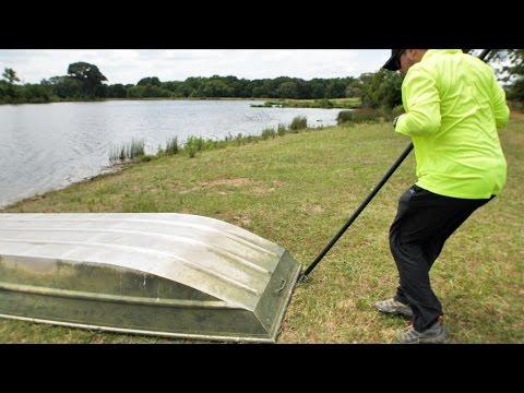 Jon Boat Odd Lure Fishing Challenge with SURPRISE SNAKE!