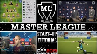 PES 2019 | Master League Startup Tutorial - Tactics, Transfers, Training & Finances!