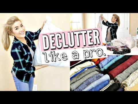 5 TIPS TO DECLUTTER LIKE A PRO   KONMARI CLOSET DECLUTTER   CLEAN WITH ME