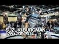 NOUVEAU 2014 | EICMA | SUZUKI BURGMAN 125 & 200 2014