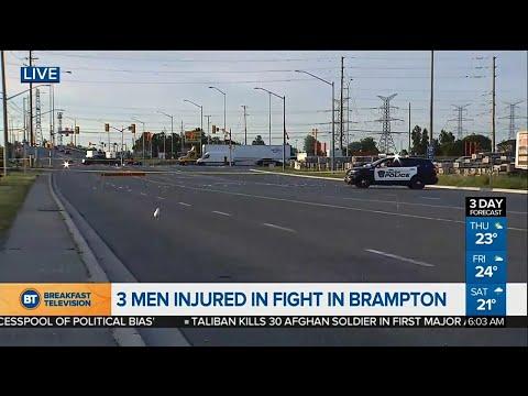 3 men injured in Brampton fight