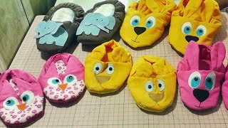 Video aula pantufas infantil