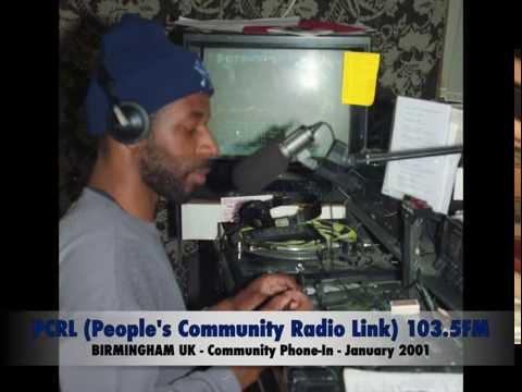 PCRL (People's Community Radio Link) 103.5 FM BIRMINGHAM UK - 2001 - Community Phone-In