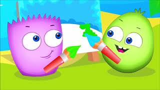 Learn Colours with Op and Bob Stories ❤💛💙  White Red and Black | Compilation Cartoons for Children