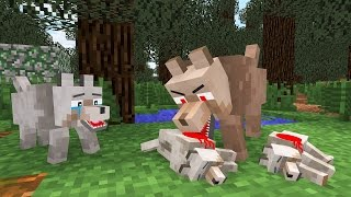 Top 5 Minecraft Wolf Life - Minecraft Animation l  minecraft roleplay l mob life