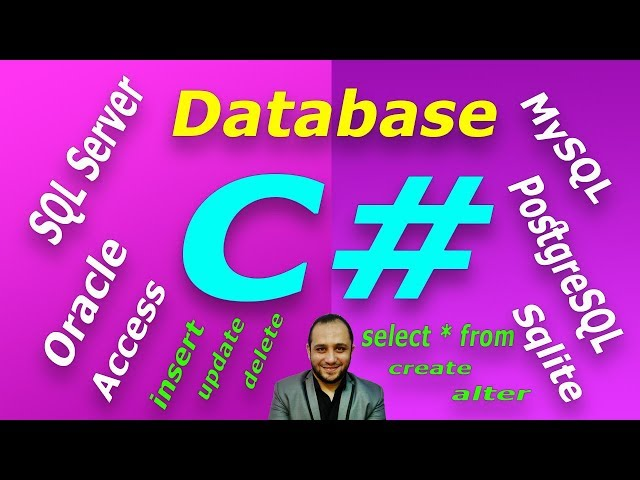#687 C# All DBMS Example 5 Database Part DB C SHARP برنامج كل قواعد البيانات سي شارب و قواعد البيانا