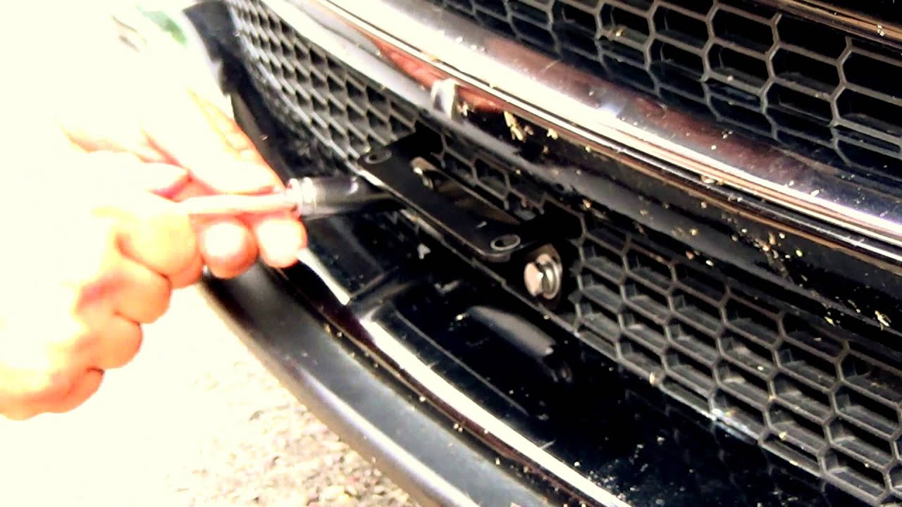 Tesla Motors Model S: The LAW No Drill License Plate Mount ...