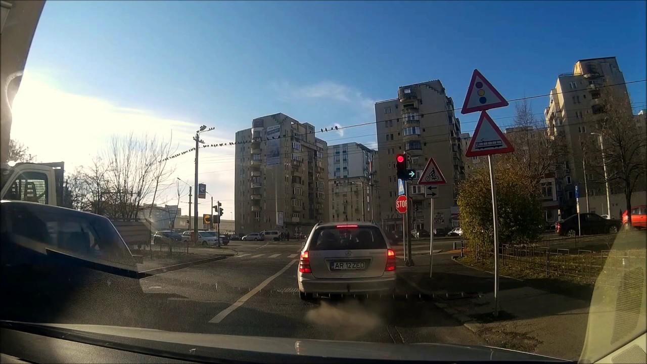 Simulare traseu examen conducere auto - Arad - Ep.10
